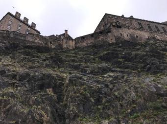 Edinburgh Castle as seen from below
