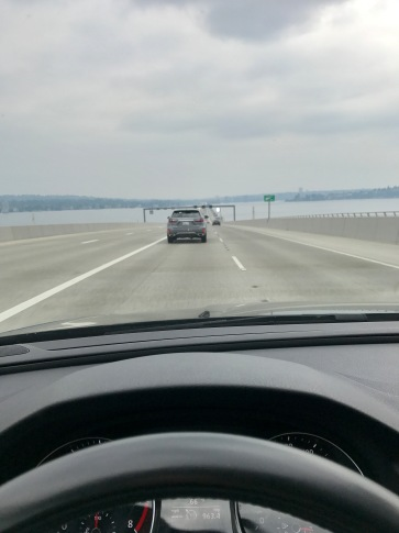 Floating bridge over Lake Washington